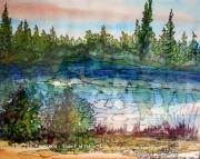 tableau paysages alain faure en peinture aquarelle musique : GRAND'RUE APRES L'ORAGE