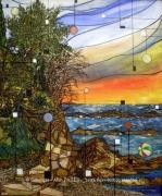 tableau paysages evasion ballon mer alain faure en peint : EVASION EN BALLON