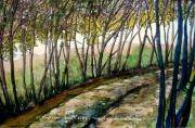 tableau paysages alain faure en peinture aquarelle musique : CHEMIN DES DENTELLES