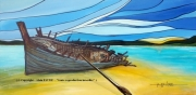tableau marine marine bateaux navires alain faure en peint : FORTUNE DE MER