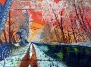 tableau paysages decembre hiver paysage alain faure en peint : DECEMBRE