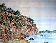tableau paysages alain faure en peinture aquarelle musique : ST MANDRIER