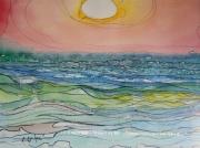 tableau paysages soleil blanc ozone uv alain faure en peint : SOLEIL BLANC