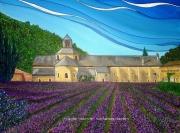 tableau paysages senanque abbaye vaucluse provence : NOTRE DAME DE SENANQUE