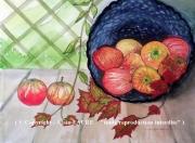 tableau nature morte automne pommes nature morte saisons : POMMES D'AUTOMNE