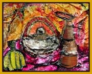 tableau abstrait chicotins sulfateuse abstrait acrylique : CHICOTINS ET SULFATEUSE