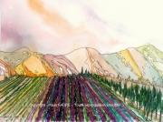 tableau paysages drome provencale drome provence lavande : DRÔME PROVENCALE