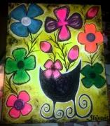 tableau fleurs fleurs bouquet couleur cadeau : Bouquet joyeux 2
