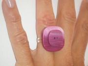 bijoux autres bague bouton carre violet : Bagues