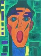 tableau abstrait artiste peintre tableau abstrait figuratif artiste strasbourg : LE CRI