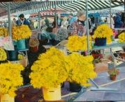 tableau scene de genre po : marché aux fleures de NICE