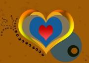 art numerique autres coeur amour marron rouge : Coeur a Coeur