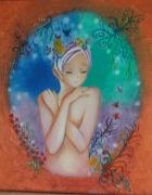 tableau personnages femme fantastique feerie magique : timidité