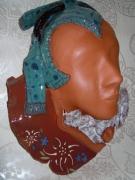 """ceramique verre personnages masque savoyarde argile cuit atelier loisirs crea : Masque décor """"savoyarde"""""""