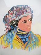 tableau personnages atlas femme amazigh maroc : Femme amazigh 2