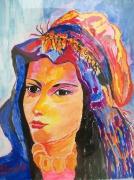 tableau personnages atlas femme amazigh maroc : Femme amazigh
