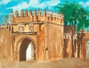 tableau paysages bab lamqam sefrou maroc : Bab Lamqam Sefrou