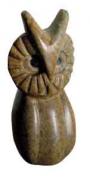 sculpture animaux pierre : Hibou