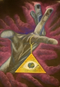 dessin autres spirituel main kabbale ange : the universal eye