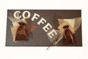 tableau abstrait cafe d antan vanille toile de jute : Coffee