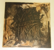 tableau abstrait traces expression dechirure colere : La colère