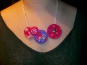 art textile mode autres collier sucette rose : Collier sucette