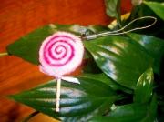 art textile mode autres sucette bijoux portable porte clef rose : Mini sucette