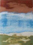 tableau paysages marqueterie bois : Dans les dunes