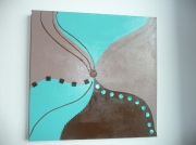 tableau marron chocolat turquoise volume : Menthe et chocolat...