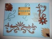 tableau bleu marron chocolat dore : Parfums d'automne...