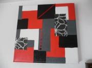 tableau rouge noir blanc gris : En rouge et noir...