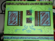 tableau vert marron turquoise colume : Alexandre...