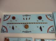 tableau bleu chocolat collage nature : Cueillette d'automne...