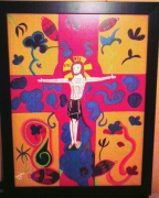 tableau autres christ religion croix mystique : christ