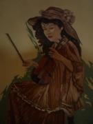 tableau : La dame au violon