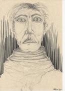 dessin personnages dessin portrait homme regard : vieil homme à l'écharpe