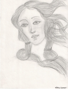 dessin personnages venus milo portrait cheveux regard : Portrait de Venus de Milo