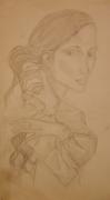 dessin personnages mains cheveux femme regard : Femme et ses mains