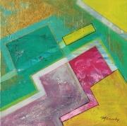 tableau abstrait dallages marbres : dallages