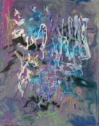 tableau paysages symphonie espace : symphonie bleue