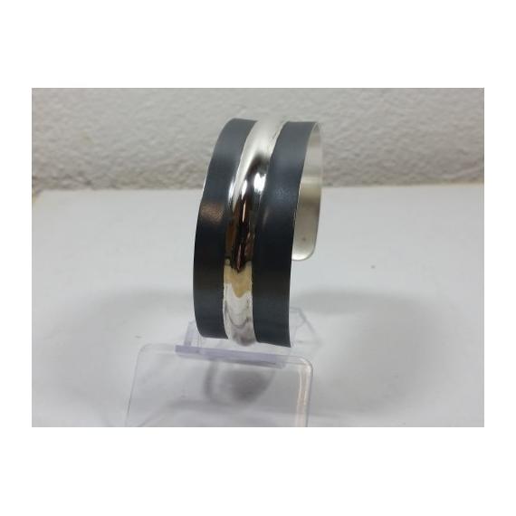 BIJOUX bracelet argent oxydé forgé  - bracelet argent oxydé