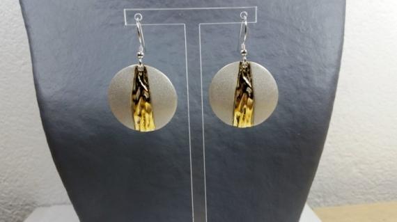 BIJOUX boucles d'oreil argent keum boo  - Boucles argent et or