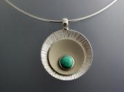 bijoux abstrait collier argent massif turquoise : Collier argent turquoise