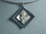 bijoux autres perle de culture argent oxyde collier : collier perle de culture