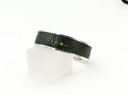 bijoux manchette galuchat : Bracelet manchette argent et Galuchat