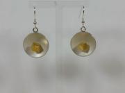 bijoux : Boucles d'oreille argent et vermeil