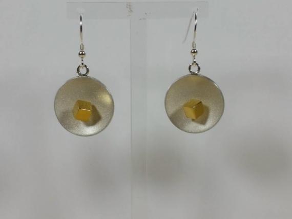 BIJOUX  - Boucles d'oreille argent et vermeil