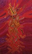 tableau abstrait nuage : DANCE DU DRAGON