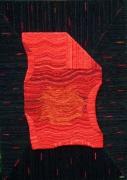 mixte abstrait tissus : PARCHEMIN