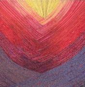 mixte abstrait croise violet rouge jaune : Chassé croisé